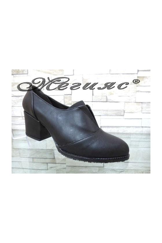 205-A Lady shoes black pu