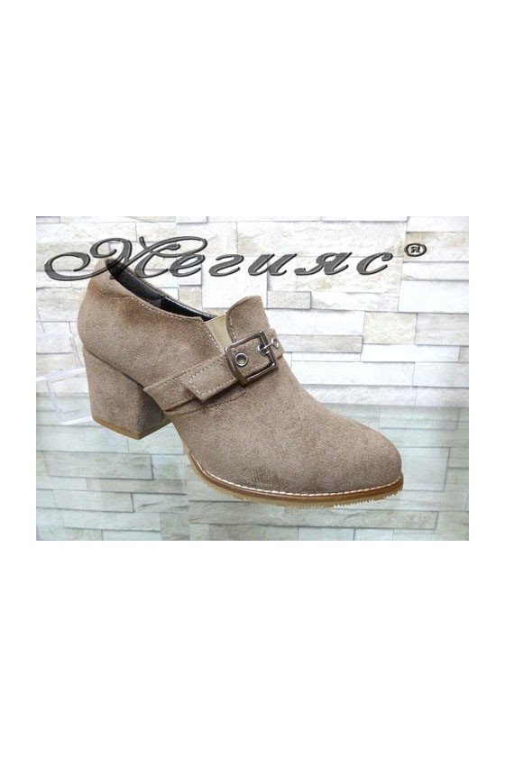 202-A Lady shoes beige suede