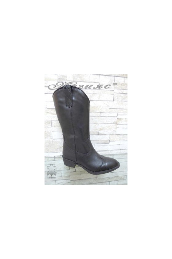 4000-01 Lady boots black leather