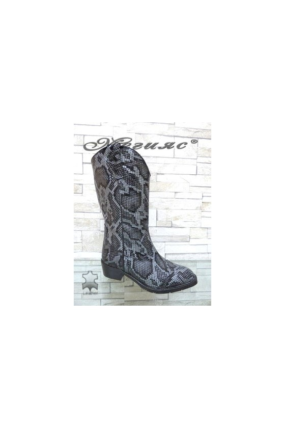 4000-149 Women boots grey leather