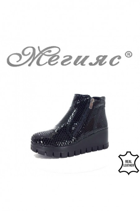 1911-115 Lady platform boots black leather