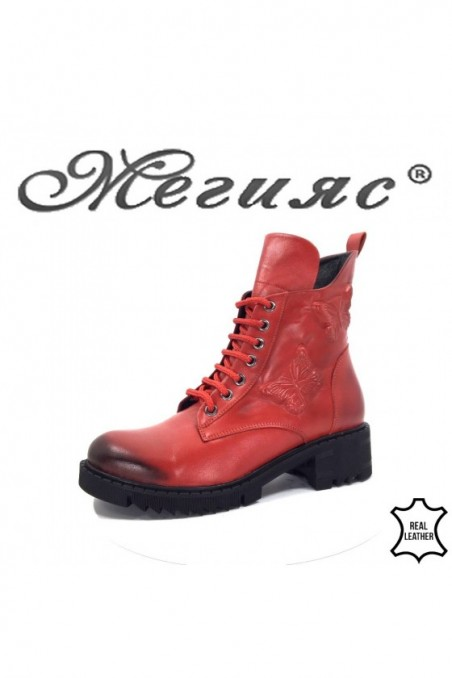 11-23 Women boots red leather