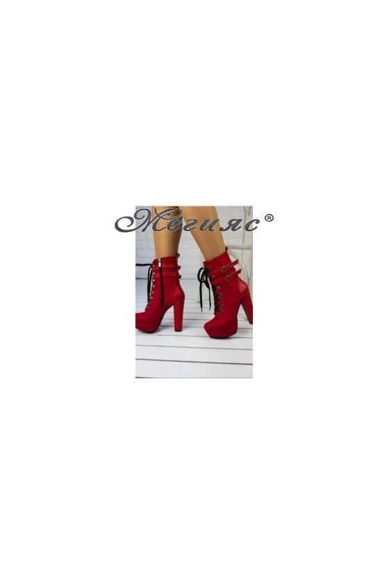 5121 Lady elegant boots red...