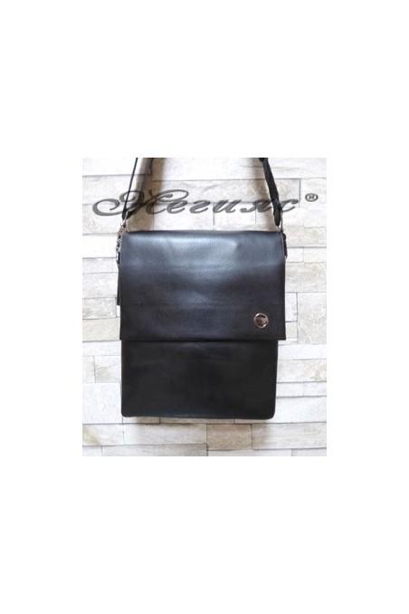 1001-2 Мъжка чанта черна от еко кожа