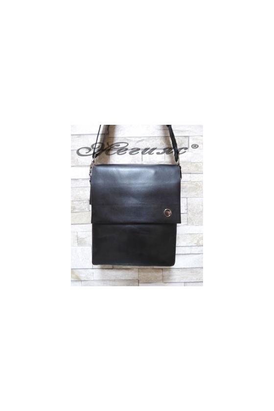 1001-3 Мъжка чанта черна от еко кожа