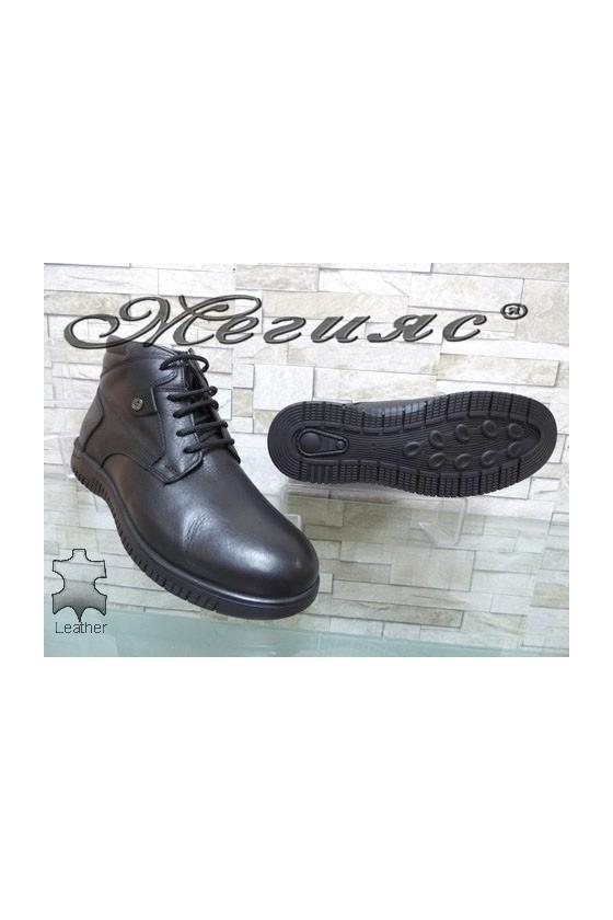 563-014 Men's boots black leather