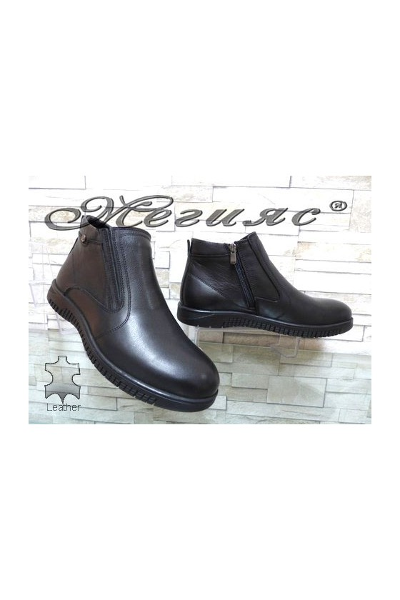 562-014 Men's boots black leather