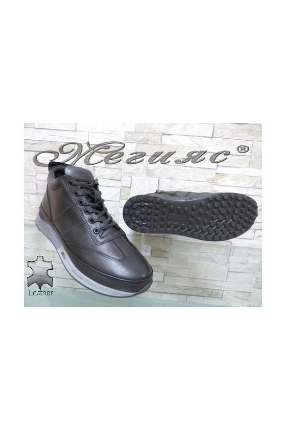 341-80 Men's boots black leather
