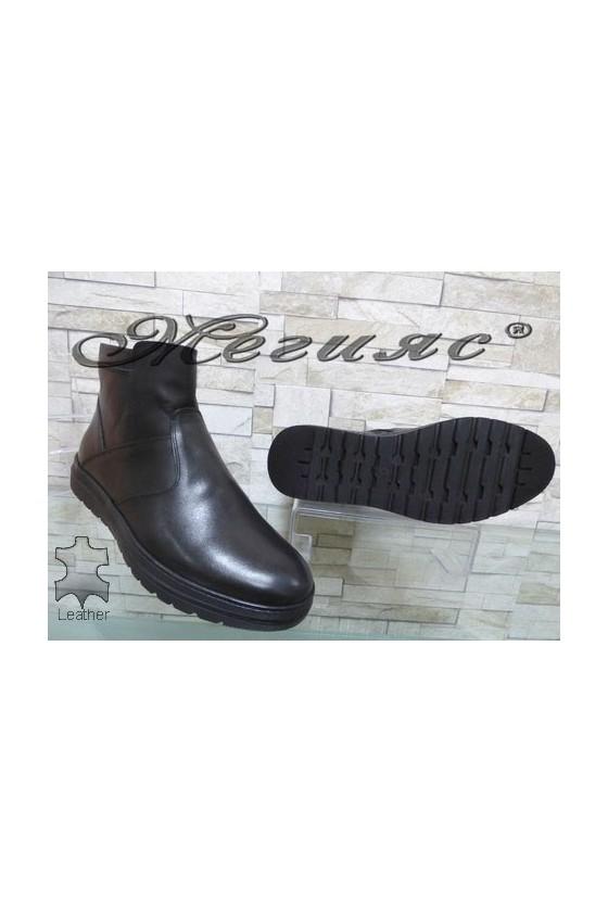181 Men's boots black leather