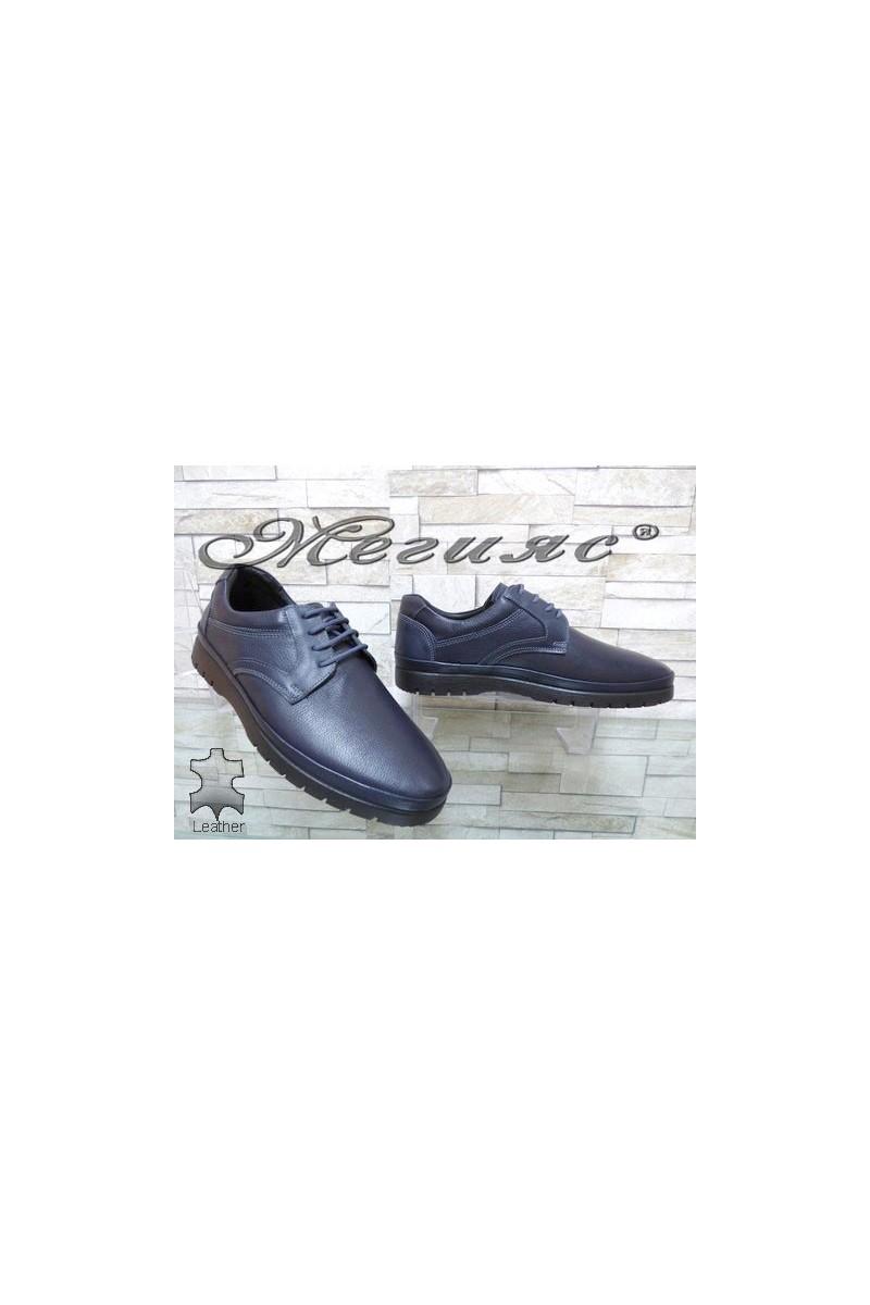 233-011 Мъжки спортни обувки Фантазия сини от естествена кожа