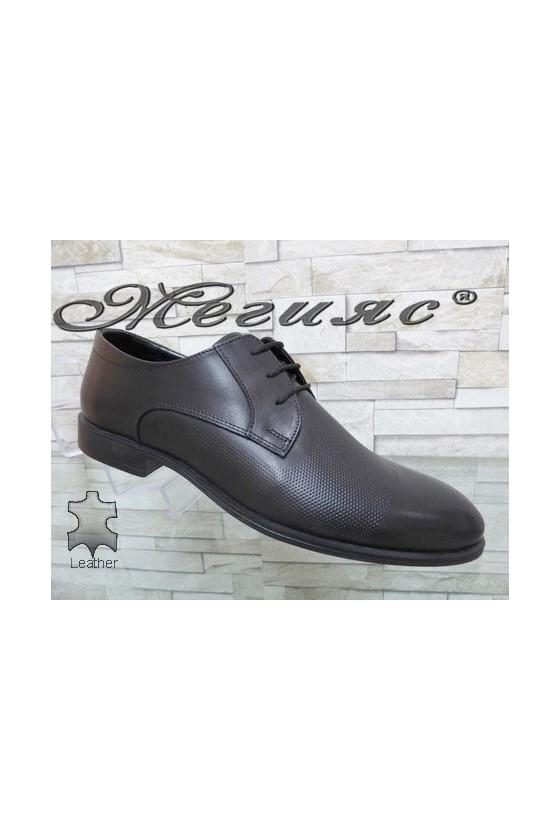 Мъжки официални обувки черни от естествена кожа 1200