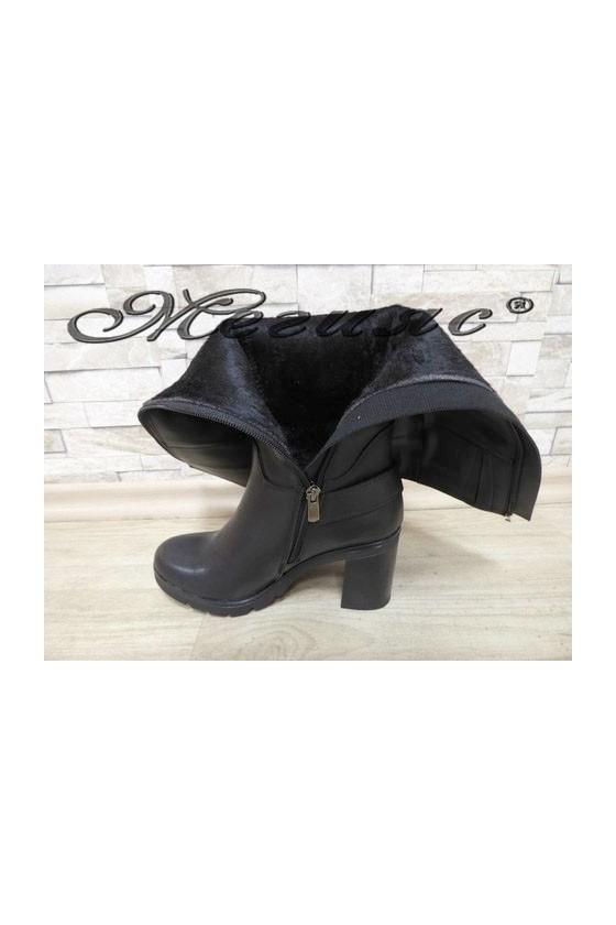 7504 Lady boots black pu