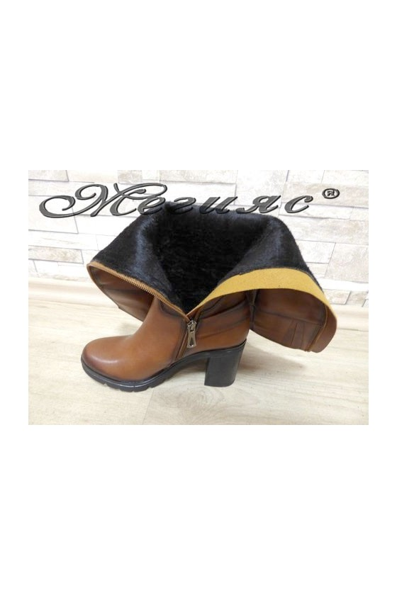 7504 Lady boots brown pu