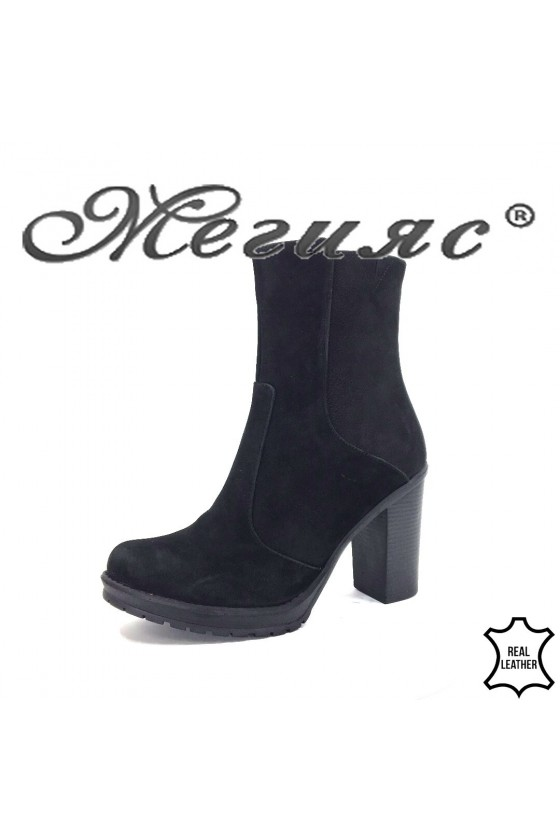911-9 Lady boots black sued