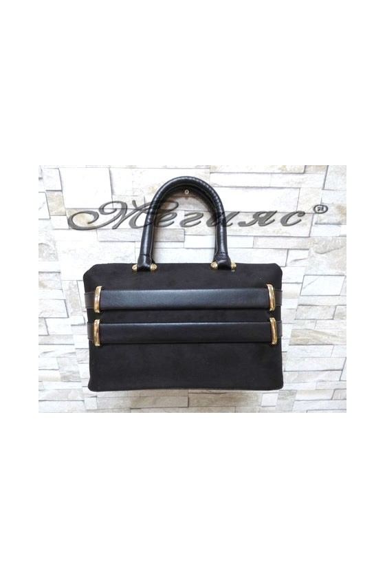 5029 Lady bag black suede