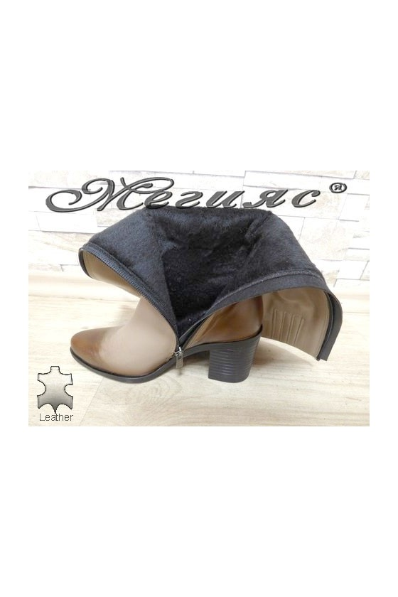 6008 Lady boots beige leather