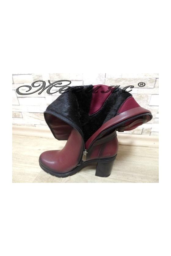 7501 Women boots wine pu