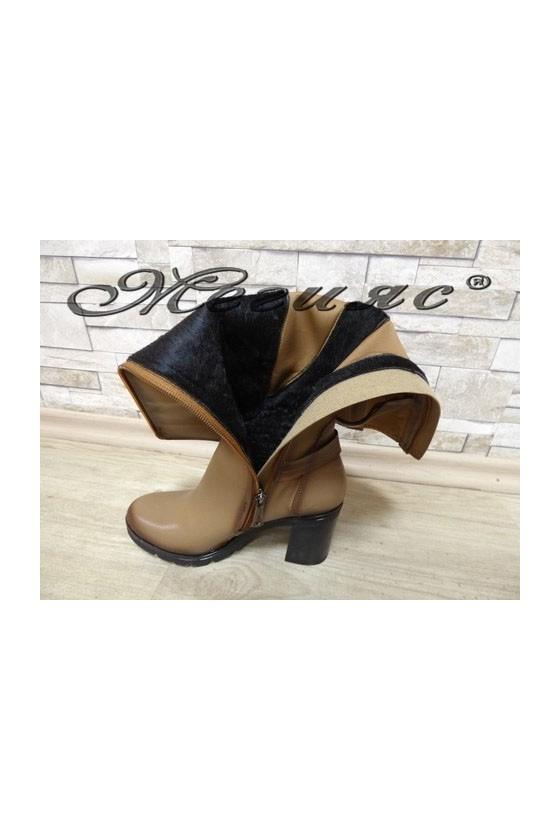 7501 Women boots beige pu