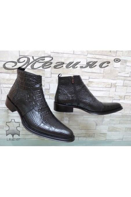 Men's boots black leather