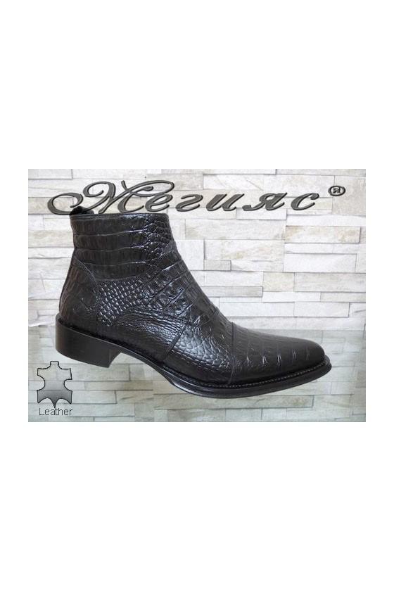 Men's boots black leather