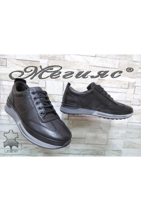 241-80 Men's sport shoes black leather