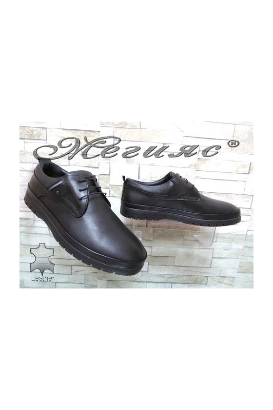 320-80 Мъжки обувки Фантазия черни ежедневни от естествена кожа
