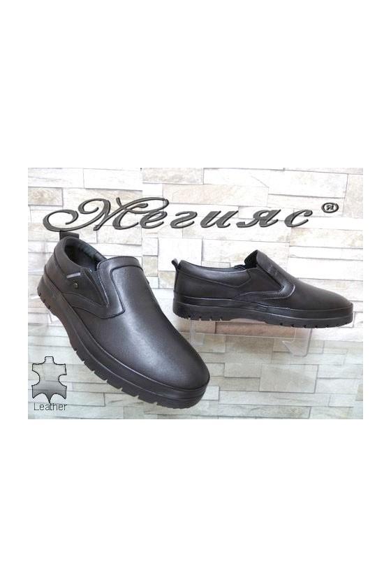 321-80 Men's shoes black leather