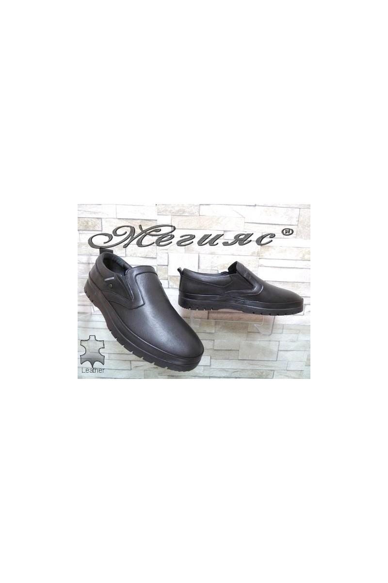 321-80 Мъжки обувки Фантазия черни ежедневни от естествена кожа
