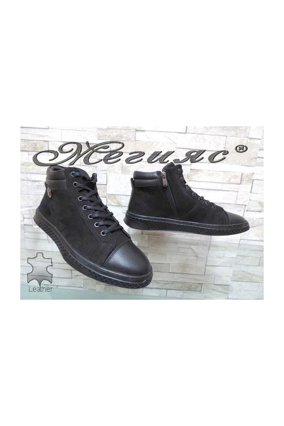 380-70-80 Men's boots black leather