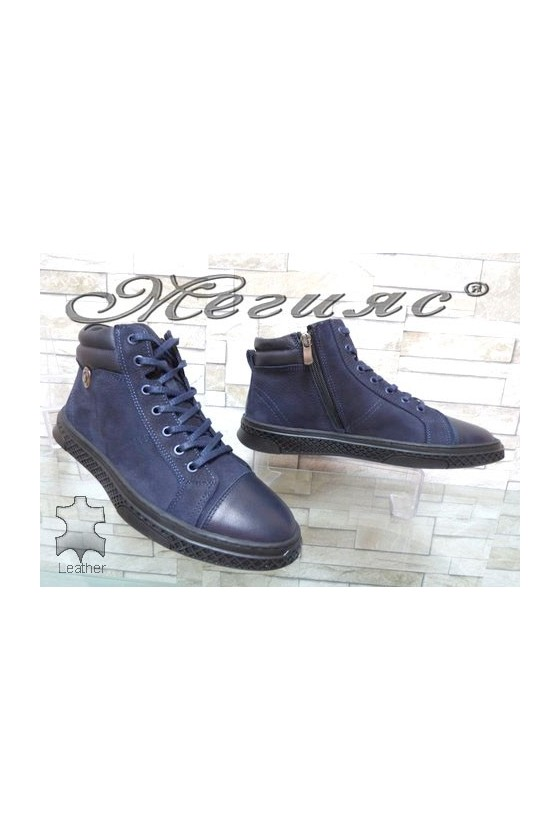 380-71-81 Men's boots blue leather