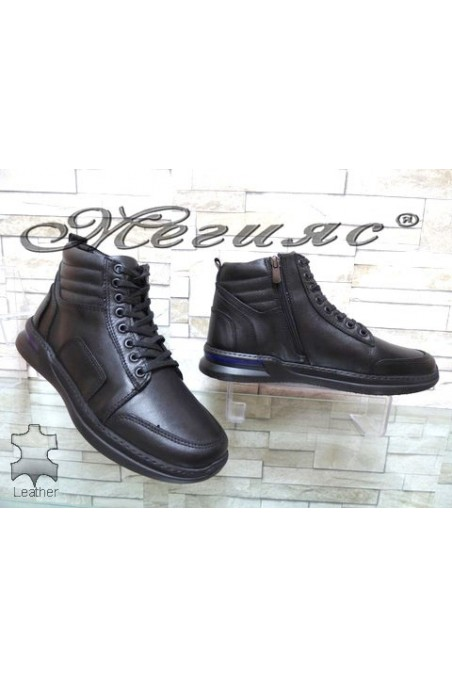 402-80 Men's boots black leather