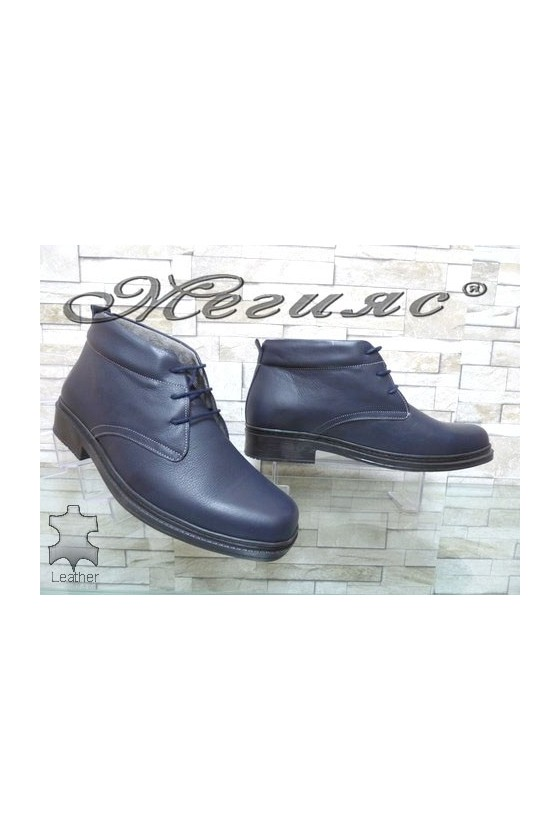 05-M XXL Men's boots blue leather