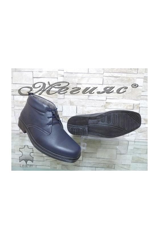 05-M XXL Men's boots blue leather