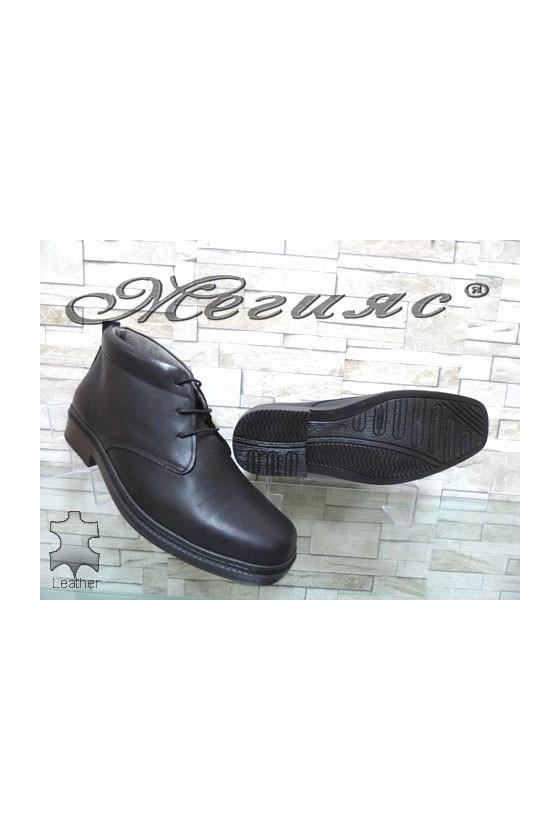 05-M XXL Men's boots blаck leather