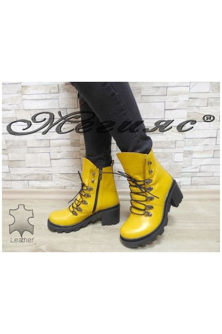 410-62 Lady boots yellow leather