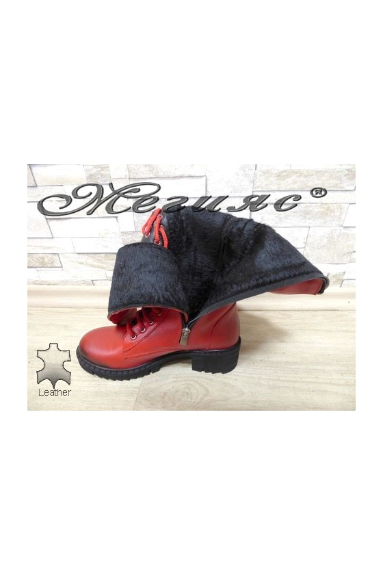 18-23 Women boots red leather