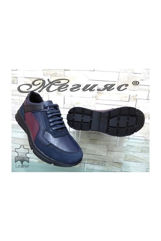 9414 Men's sport shoes dark blue leather