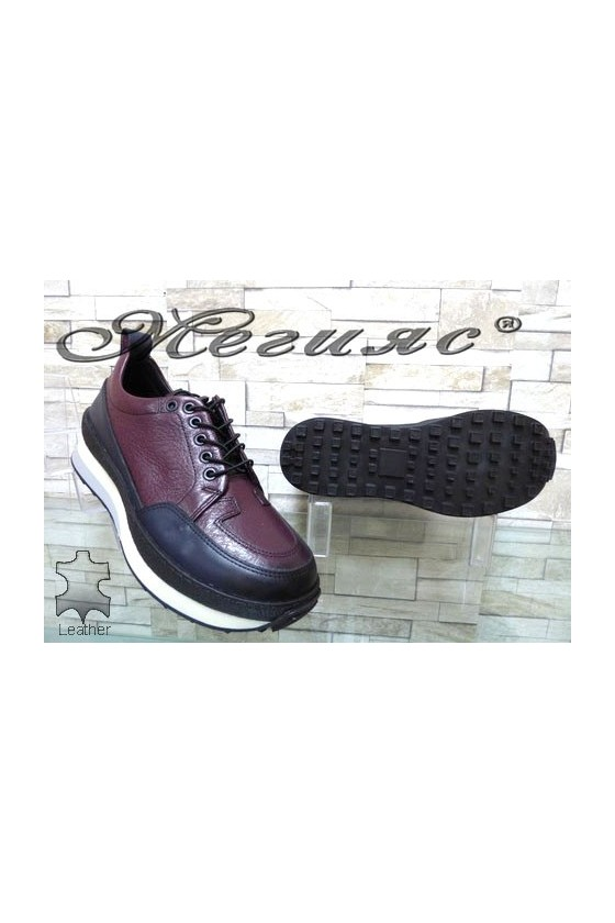 9400 Men's sport shoes wine leather