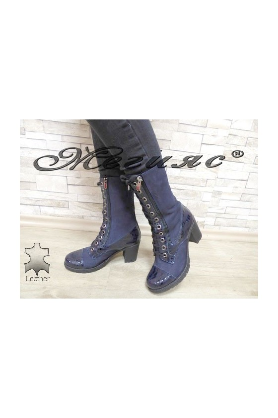 372-370 Women boots blue suede