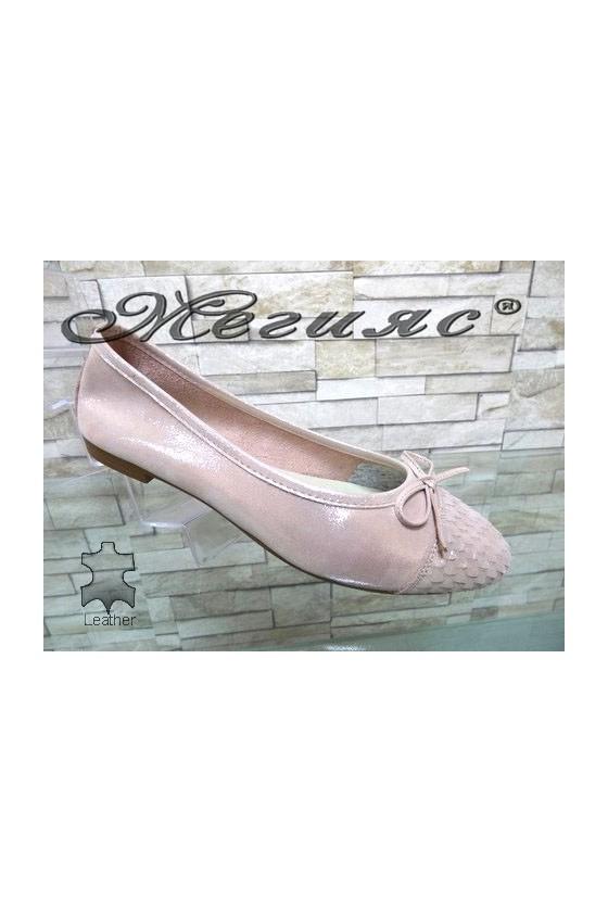 124/270/429 Дамски обувки тип пантоф от естествена кожа