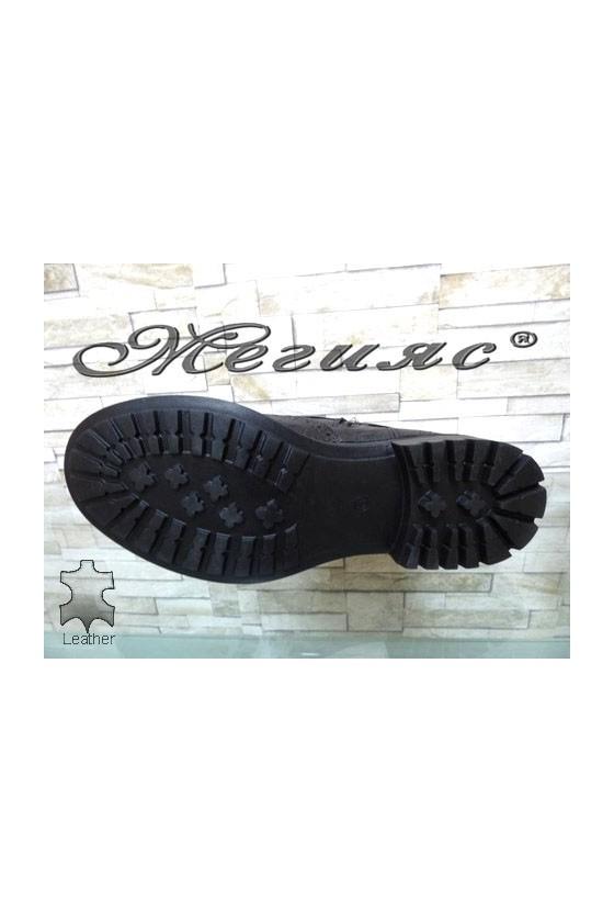 1604-597 Men's boots black leather