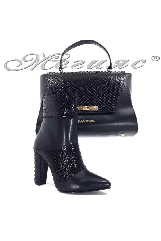47715  Комплект дамски елегантни боти  с чанта