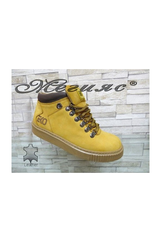 055-M Men's boots yellow leather
