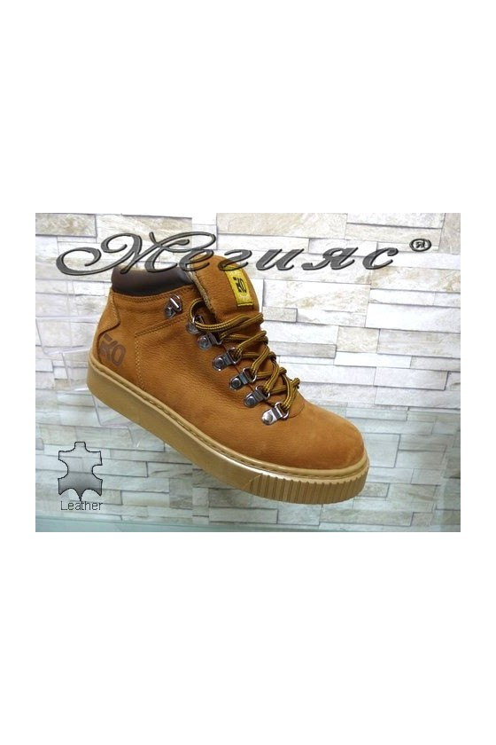055-M Men's boots brown leather