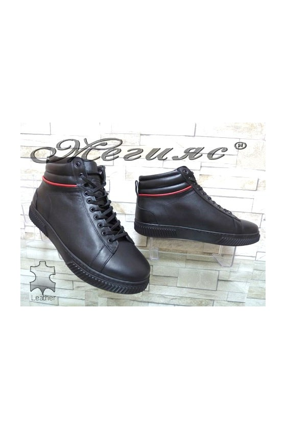 032-M Men's boots black leather