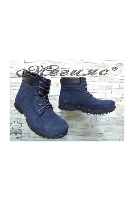 17005 XXL Men's boots blue leather