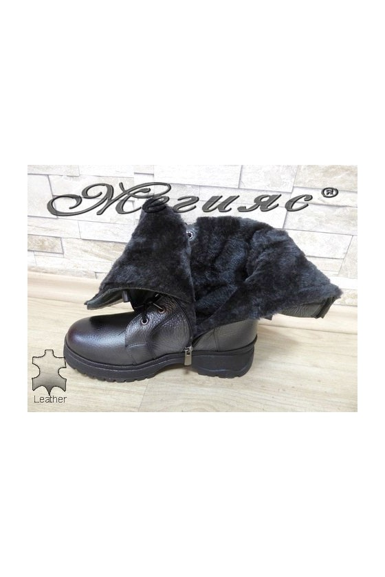 403-68 Women boots grey leather
