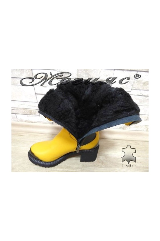 315-6 Women boots yellow leather