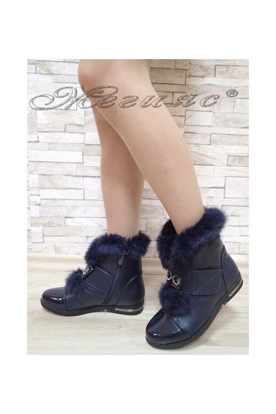 Women boots Cassie 2017-69 dark blue pu