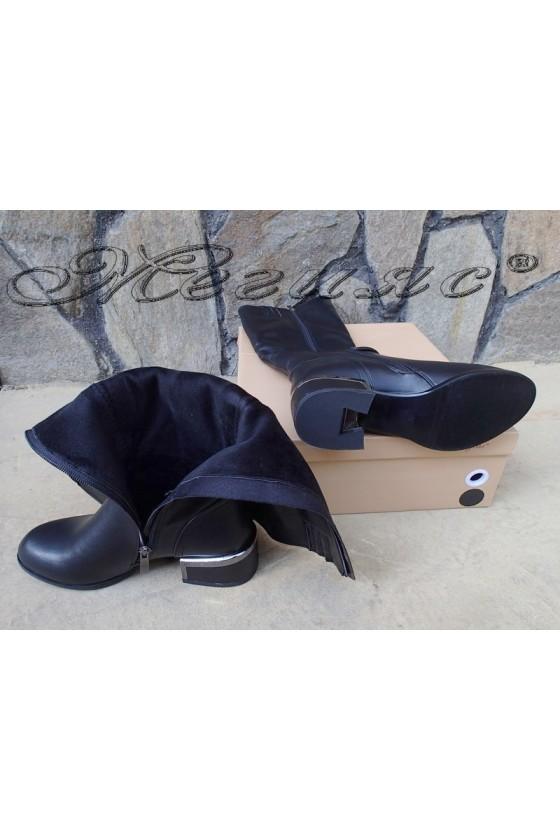 Lady boots Christine 20W18-309 black pu